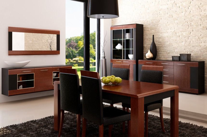 2-дверная подвесная витрина (доп.освещение - опция) 116x106x34 см (Ш x В x Г)